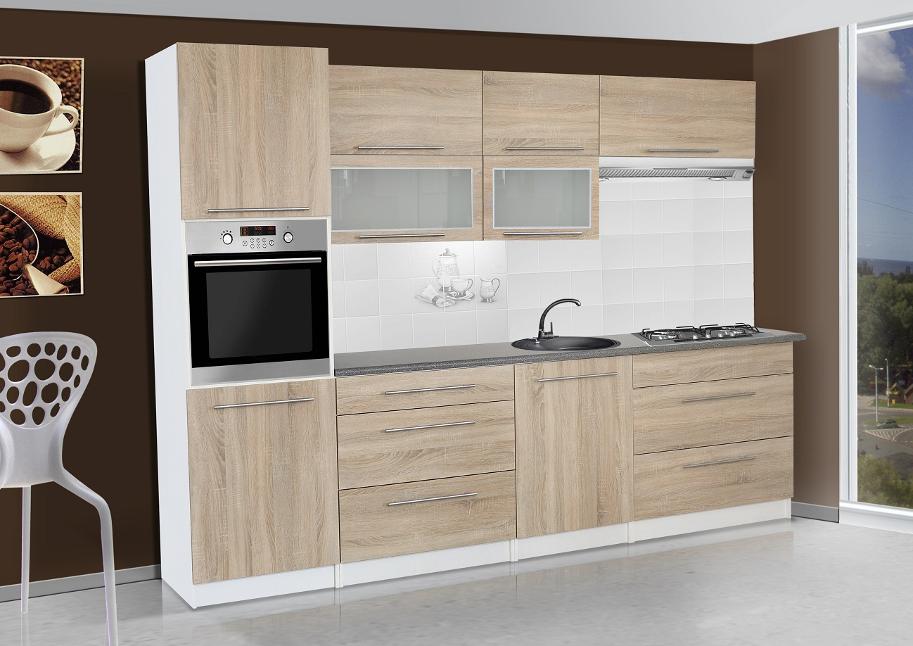 k chenzeile elena 300 cm wenge k che k chenblock arbeitsplatte einbauk che ebay. Black Bedroom Furniture Sets. Home Design Ideas