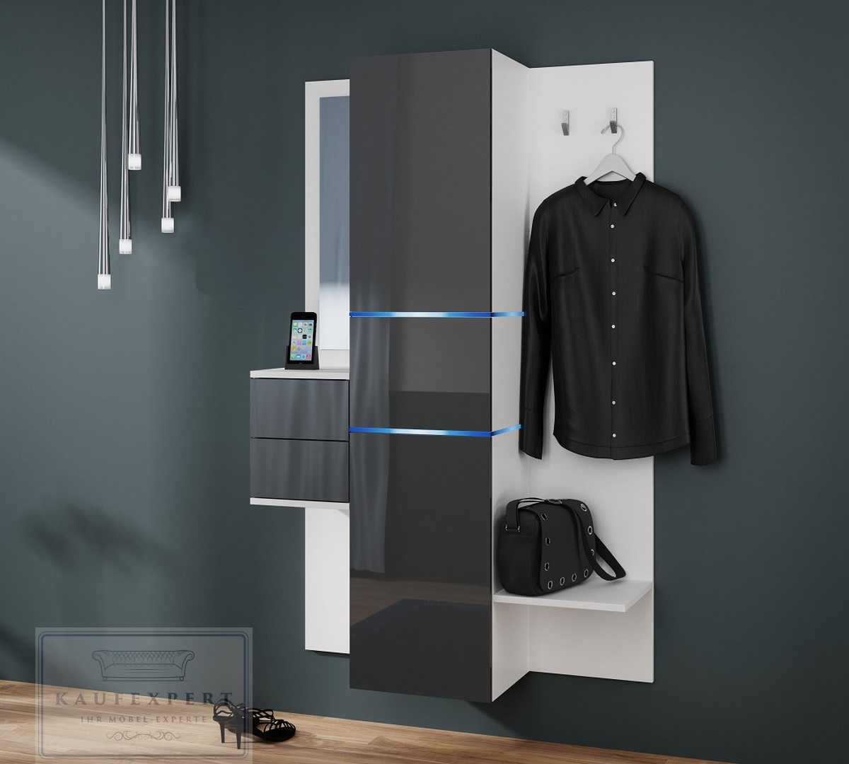 garderobe camino neue version wei hochglanz garderoben set flurgarderobe ebay. Black Bedroom Furniture Sets. Home Design Ideas