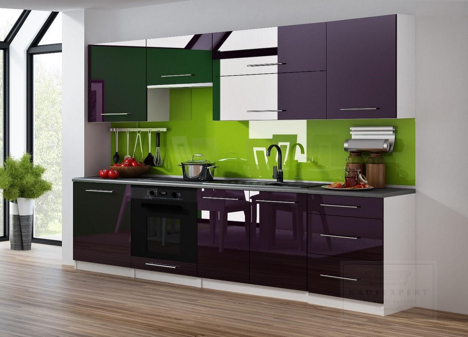 k chenzeile linda 240 cm k chenblock einbauk che relinggriffe grau hochglanz ovp ebay. Black Bedroom Furniture Sets. Home Design Ideas