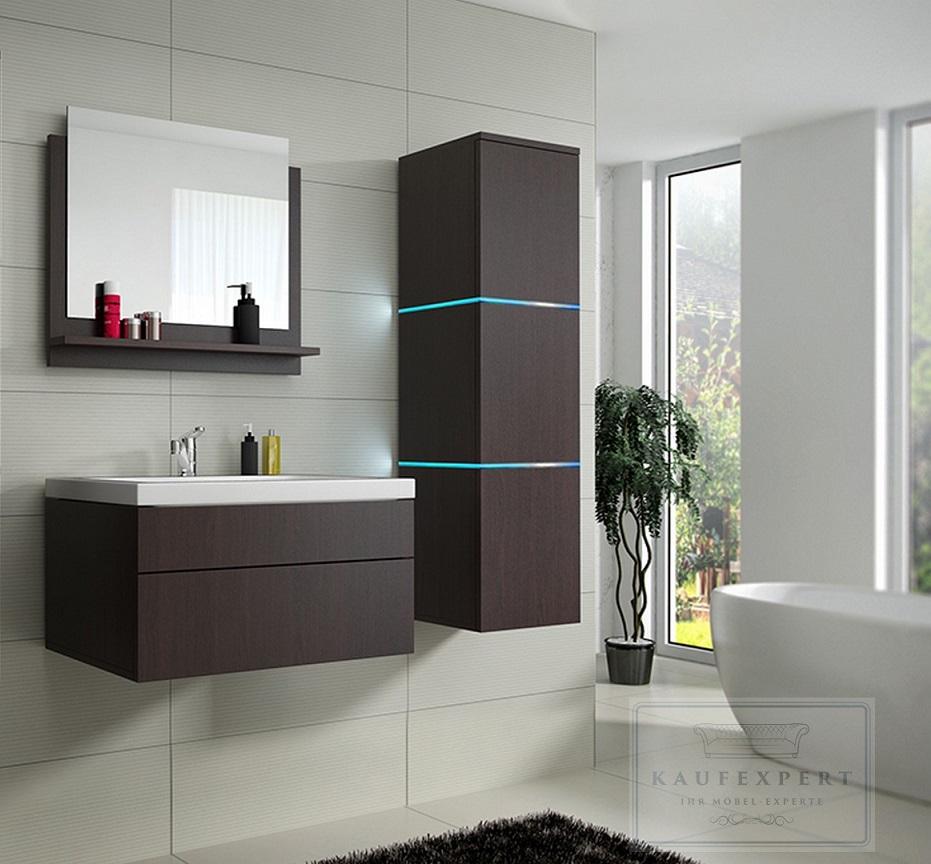 badm bel set lux 1 keramik badezimmerm bel wenge led beleuchtung matt ebay. Black Bedroom Furniture Sets. Home Design Ideas