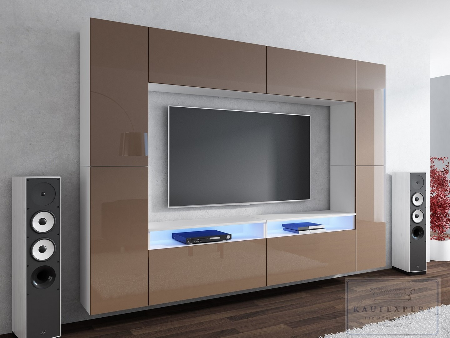 wohnwand design modern led beleuchtung hochglanz concept orion lofter mediawand ebay. Black Bedroom Furniture Sets. Home Design Ideas