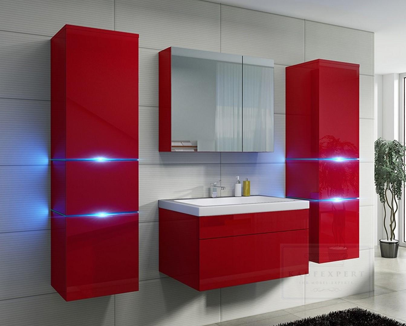 badm bel set prestige lackiert keramik badezimmerm bel rot. Black Bedroom Furniture Sets. Home Design Ideas